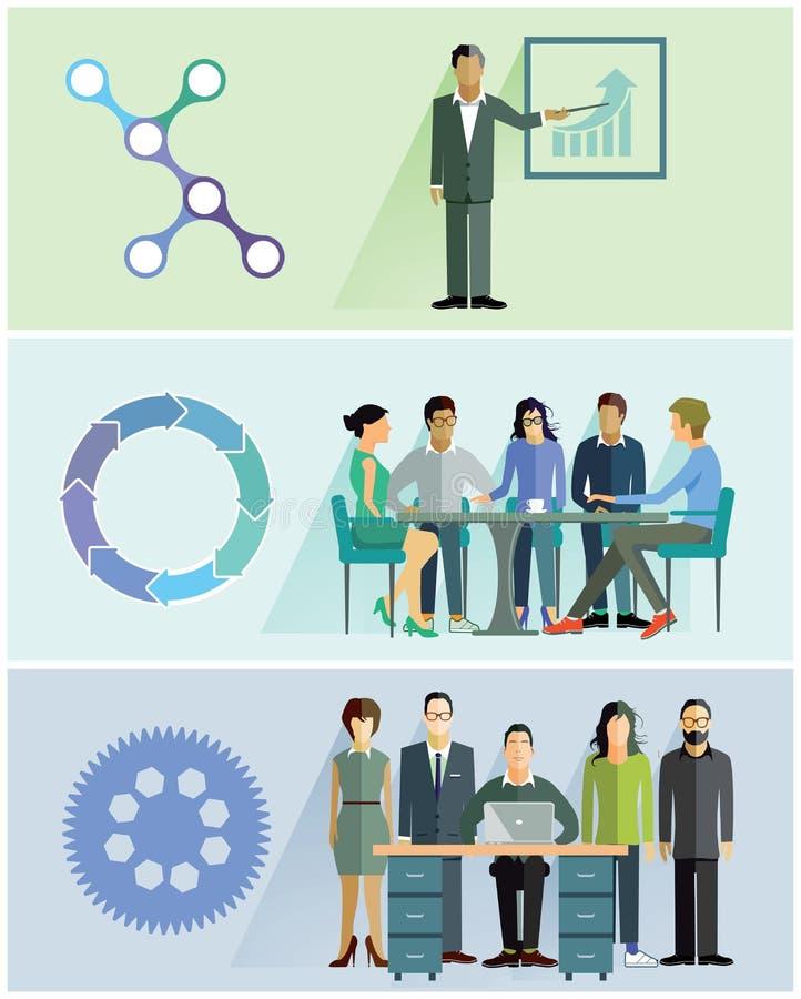 Απεικονίσεις ομαδικής εργασίας διανυσματική απεικόνιση