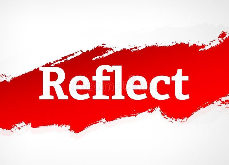 Απεικονίστε την κόκκινη απεικόνιση υποβάθρου βουρτσών αφηρημένη διανυσματική απεικόνιση