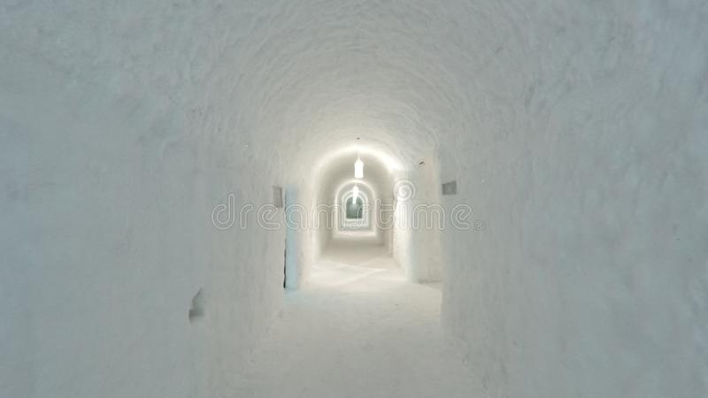 απεικονισμένος στο ξενοδοχείο πάγου στη Σουηδία στοκ εικόνα