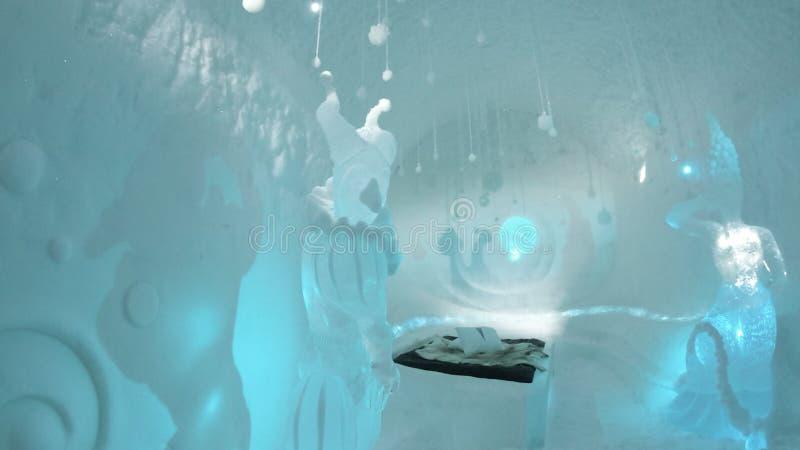 απεικονισμένος στο ξενοδοχείο πάγου στη Σουηδία στοκ φωτογραφία με δικαίωμα ελεύθερης χρήσης
