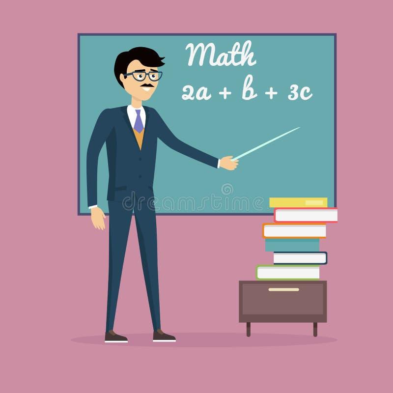 Απεικόνιση έννοιας εκμάθησης μαθηματικών απεικόνιση αποθεμάτων