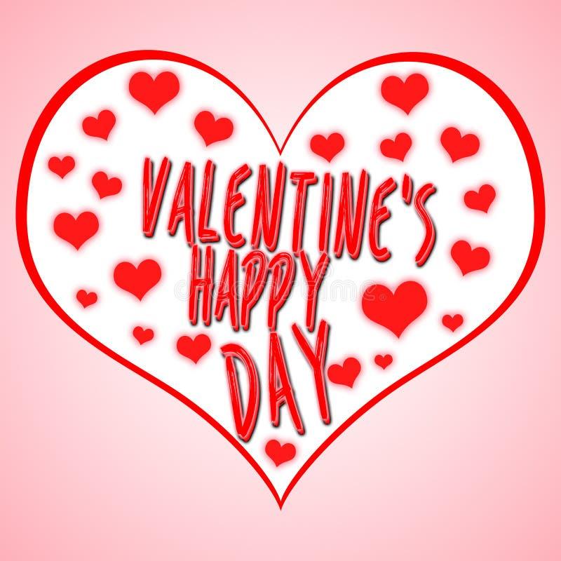 Απεικόνιση έννοιας ημέρας βαλεντίνων ` s με το σύμβολο καρδιών κατάλληλο για τη διαφήμιση και την προώθηση Ευτυχή ημέρα και βοτάν ελεύθερη απεικόνιση δικαιώματος