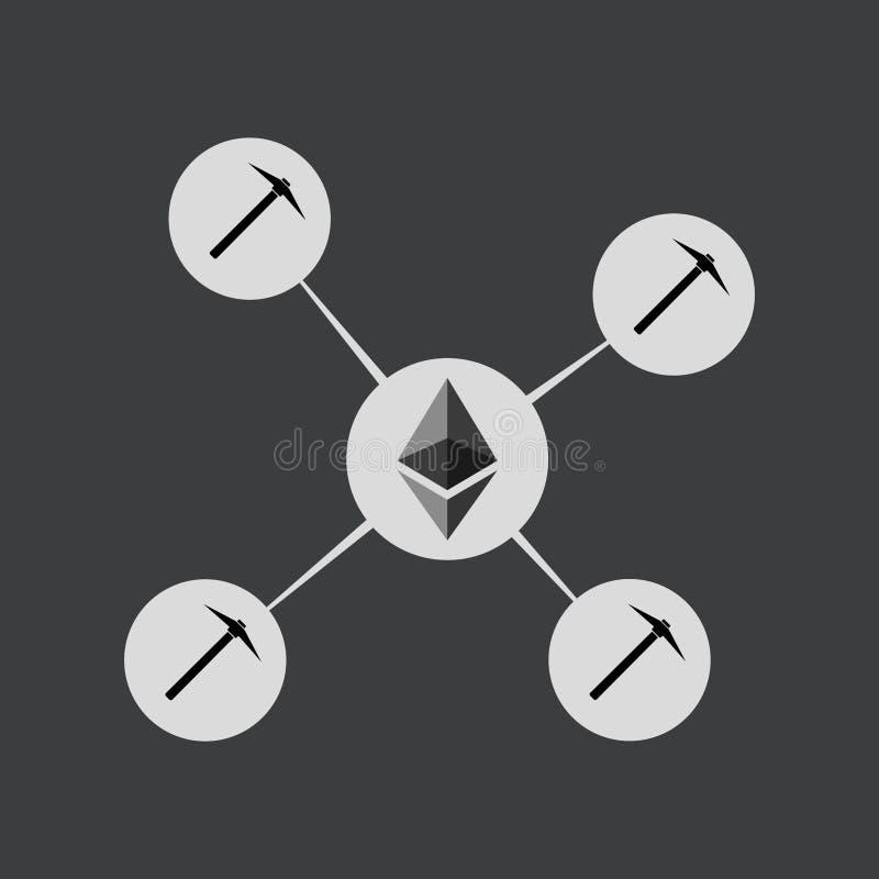 Απεικόνιση έννοιας λιμνών μεταλλείας Ethereum ελεύθερη απεικόνιση δικαιώματος