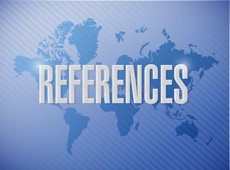 απεικόνιση έννοιας παγκόσμιων σημαδιών αναφορών διανυσματική απεικόνιση