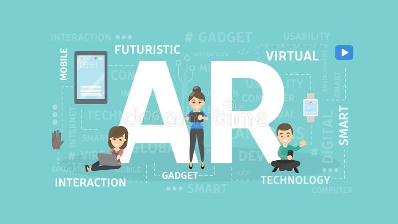 Απεικόνιση έννοιας του AR διανυσματική απεικόνιση