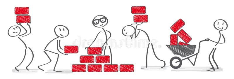 Απεικόνιση έννοιας Teamworking ελεύθερη απεικόνιση δικαιώματος
