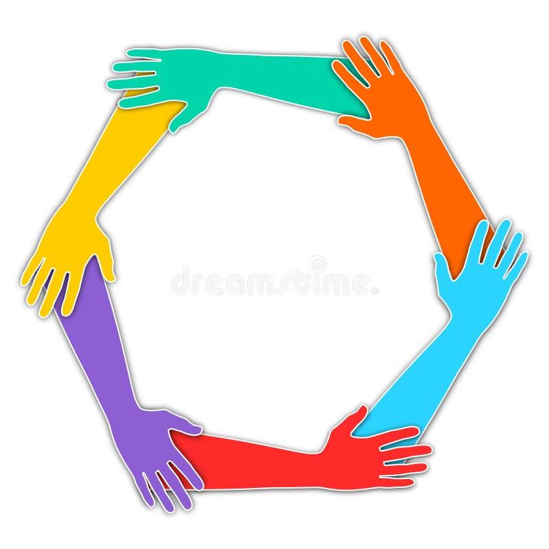 Ενωμένα χέρια ελεύθερη απεικόνιση δικαιώματος
