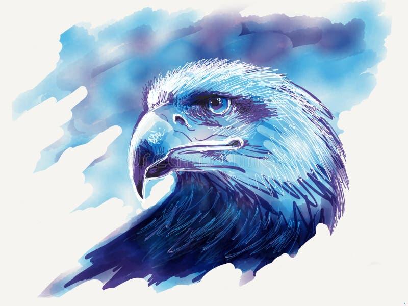 Απεικόνιση αετών hade διανυσματική απεικόνιση