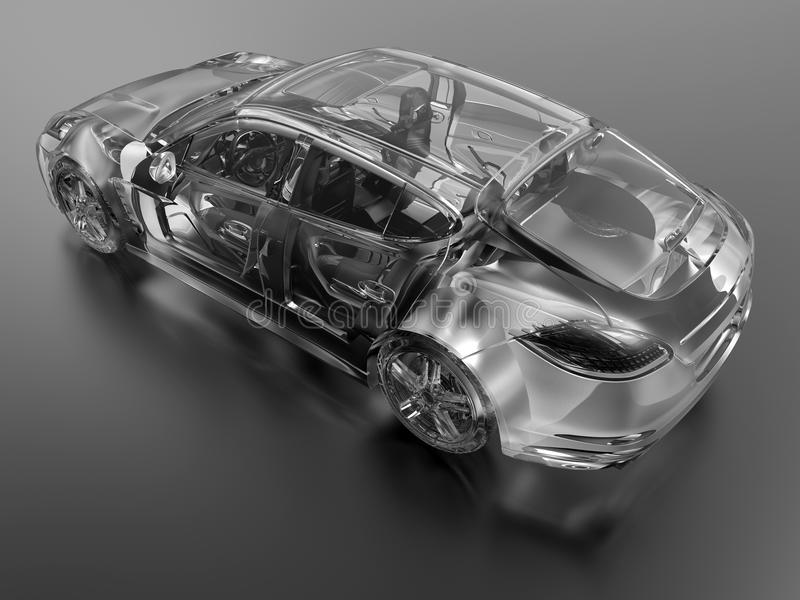Απεικόνιση ακτίνας X αυτοκινήτων ελεύθερη απεικόνιση δικαιώματος