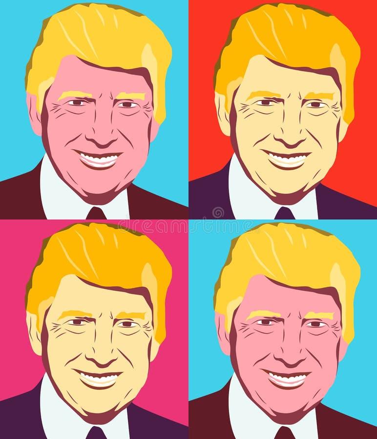 Απεικόνιση ΑΜΕΡΙΚΑΝΙΚΟΥ Προέδρου διανυσματική απεικόνιση