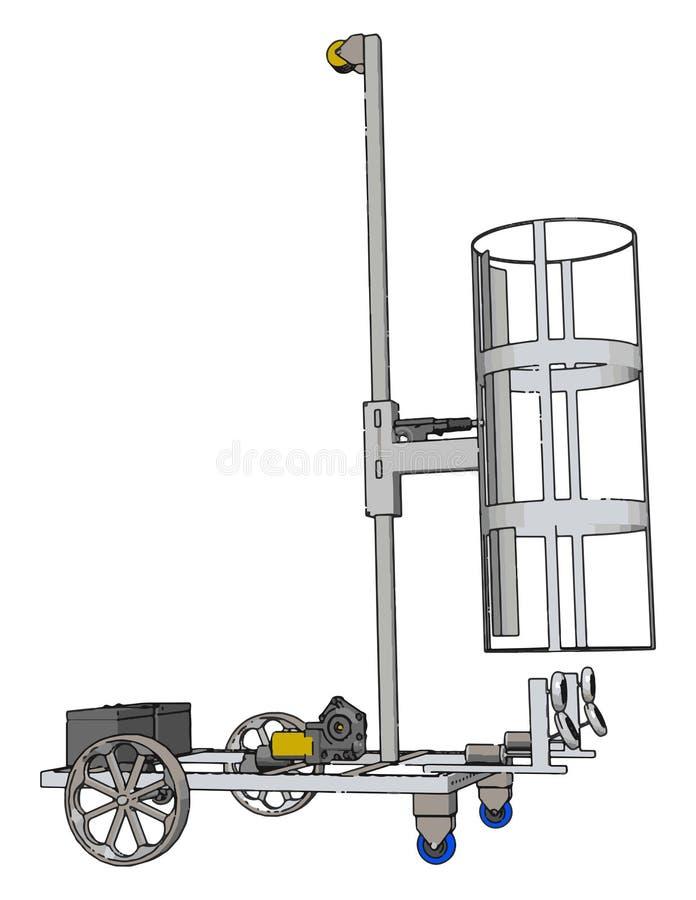 Απεικόνιση απλού ανυψωτικού οχήματος διανυσματική απεικόνιση