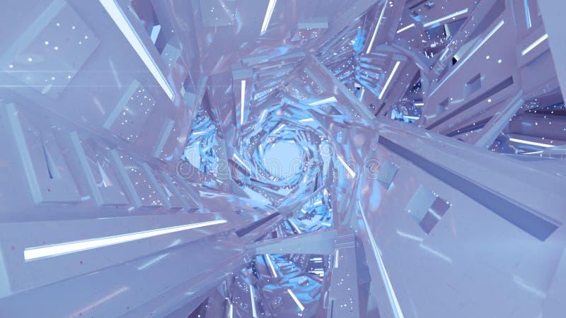 Απεικόνιση απόδοσης 3D με λευκό διάδρομο διαστημοπλοίου ελεύθερη απεικόνιση δικαιώματος