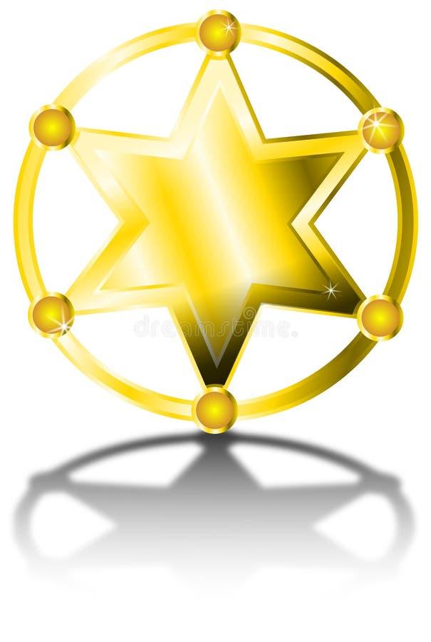Απεικόνιση αστεριών σερίφηδων ελεύθερη απεικόνιση δικαιώματος