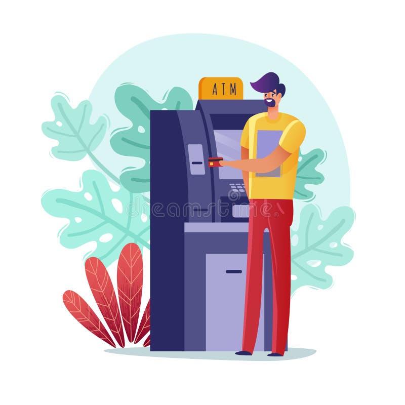 Απεικόνιση ατόμων του ATM paymens ελεύθερη απεικόνιση δικαιώματος