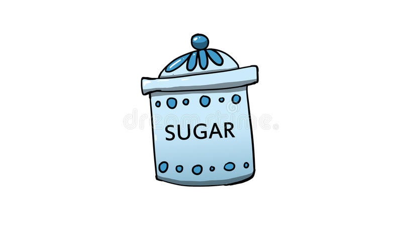 Απεικόνιση βάζων ζάχαρης διανυσματική απεικόνιση