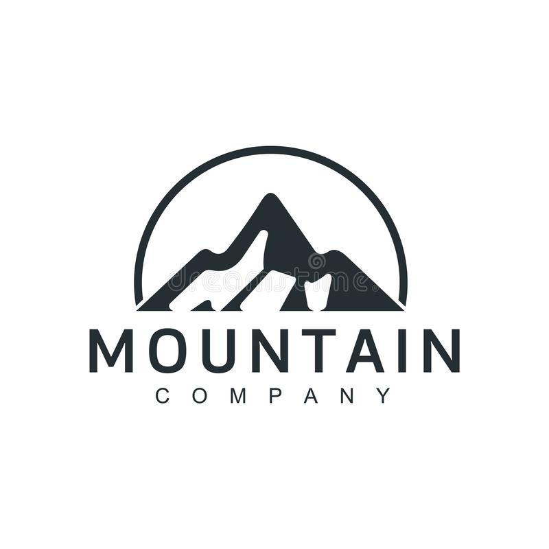 Απεικόνιση βουνών, υπαίθρια περιπέτεια Διανυσματικός γραφικός για την μπλούζα και άλλες χρήσεις εκλεκτής ποιότητας τοπίο με το τέ απεικόνιση αποθεμάτων