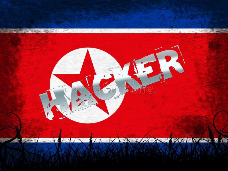 Απεικόνιση βόρειας κορεατική επίθεσης μέσων αμυχών τρισδιάστατη απεικόνιση αποθεμάτων