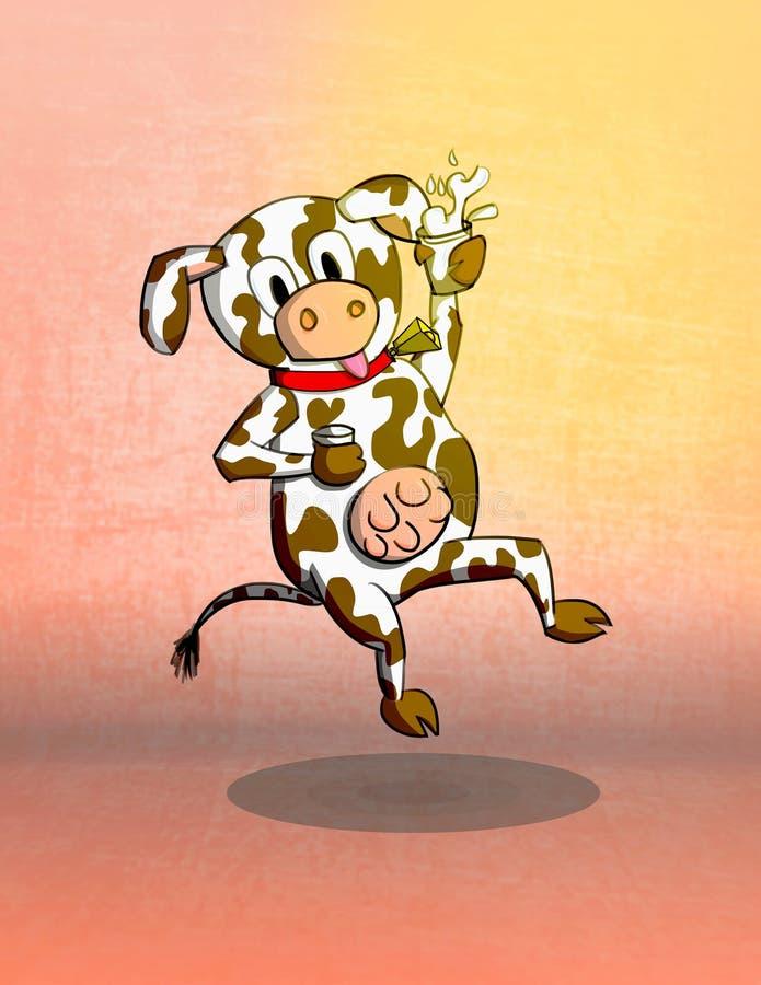Απεικόνιση γάλακτος αγελάδων στοκ εικόνες