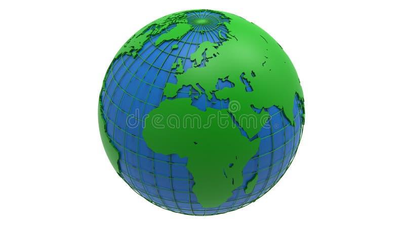 Απεικόνιση γήινων σφαιρών διανυσματική απεικόνιση