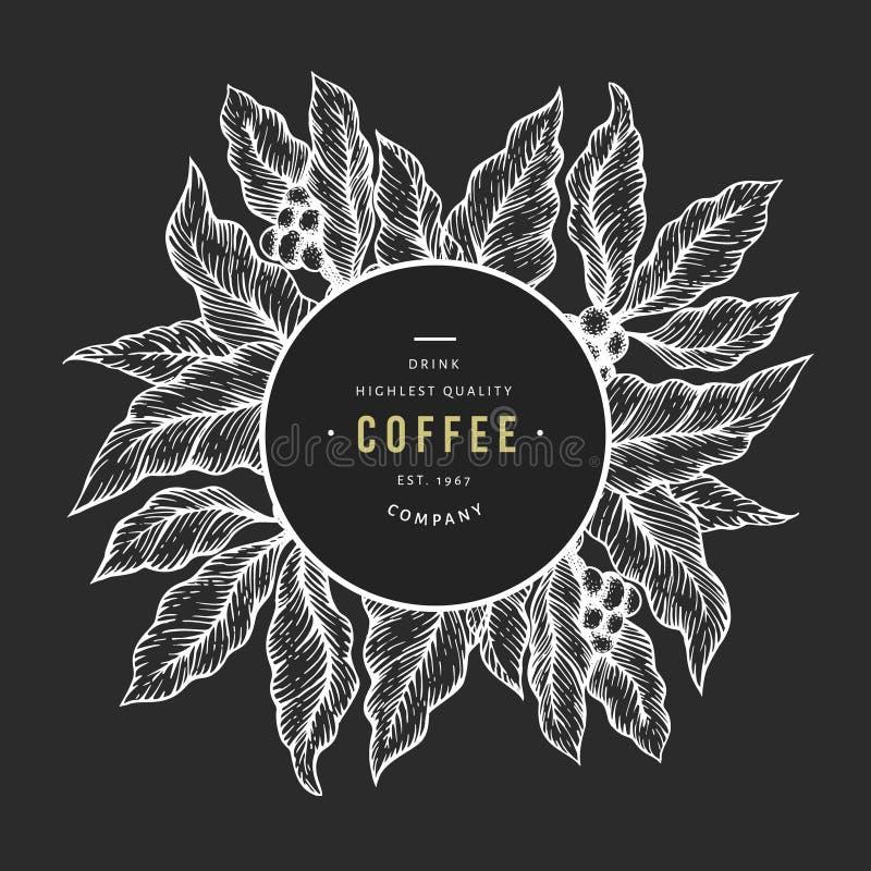 """Απεικόνιση διακλάδωσης Ï""""Î¿Ï… κλάδου Ï""""Î¿Ï… καφέ. Φόντο καφέ εποχής. Εικόνα σ ελεύθερη απεικόνιση δικαιώματος"""