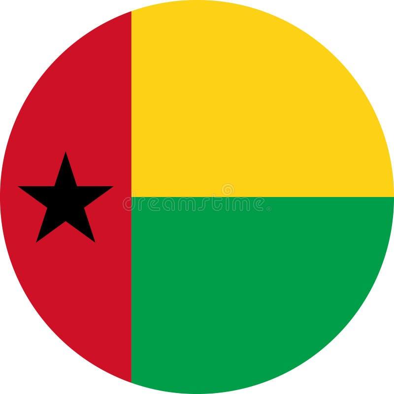 Απεικόνιση διανυσματικό eps της Αφρικής σημαιών της Γουινέα-Μπισσάου απεικόνιση αποθεμάτων