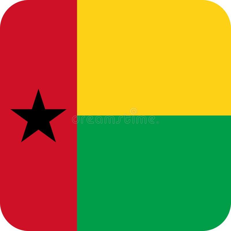 Απεικόνιση διανυσματικό eps της Γουινέα-Μπισσάου Αφρική σημαιών διανυσματική απεικόνιση