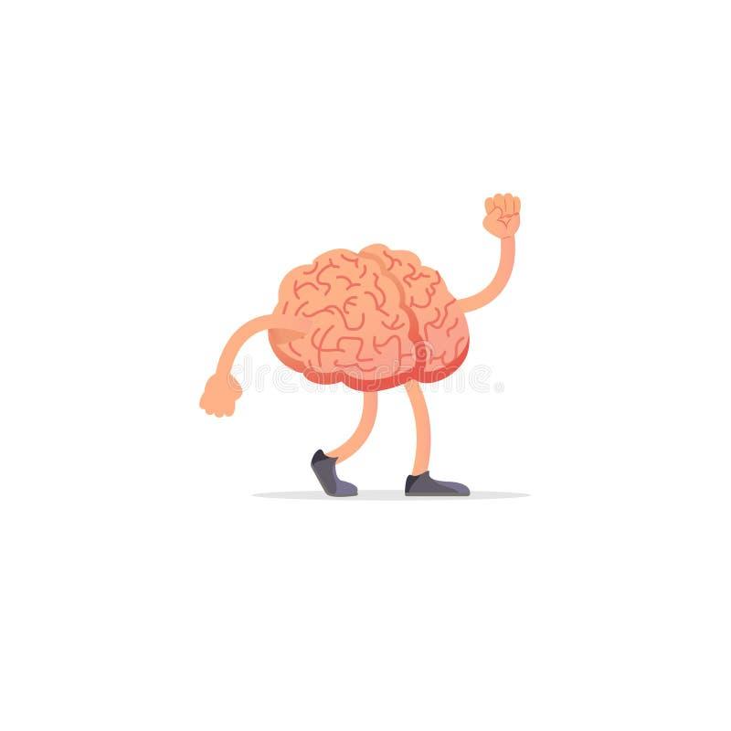 Απεικόνιση εγκεφάλου, σχέδιο έννοιας μυαλού διανυσματική απεικόνιση