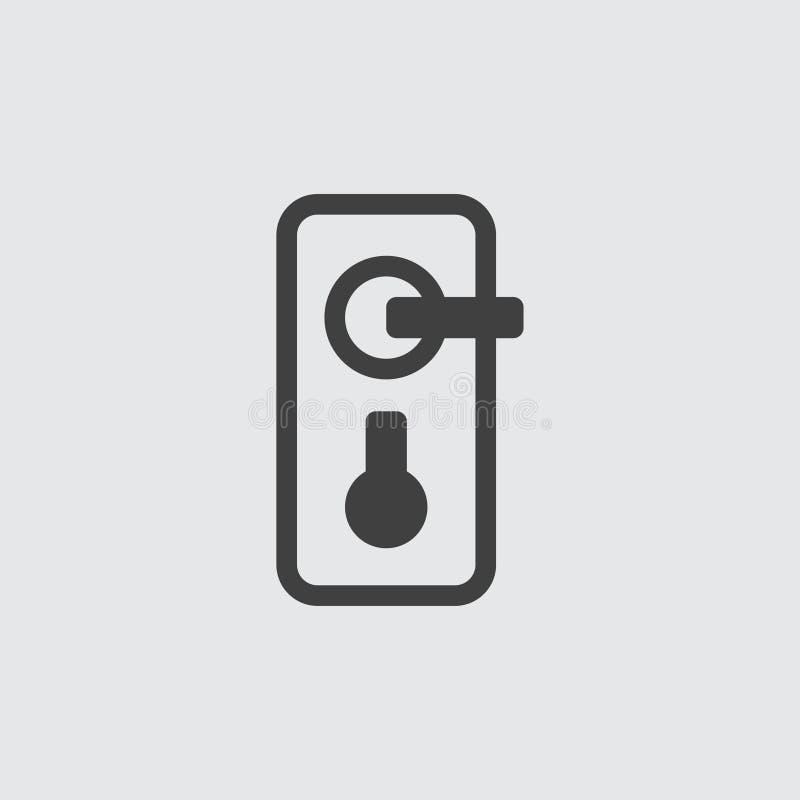 Απεικόνιση εικονιδίων λαβών πορτών απεικόνιση αποθεμάτων