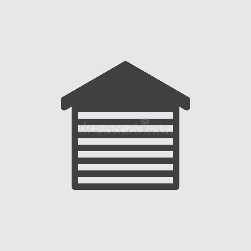 Απεικόνιση εικονιδίων γκαράζ αυτοκινήτων διανυσματική απεικόνιση