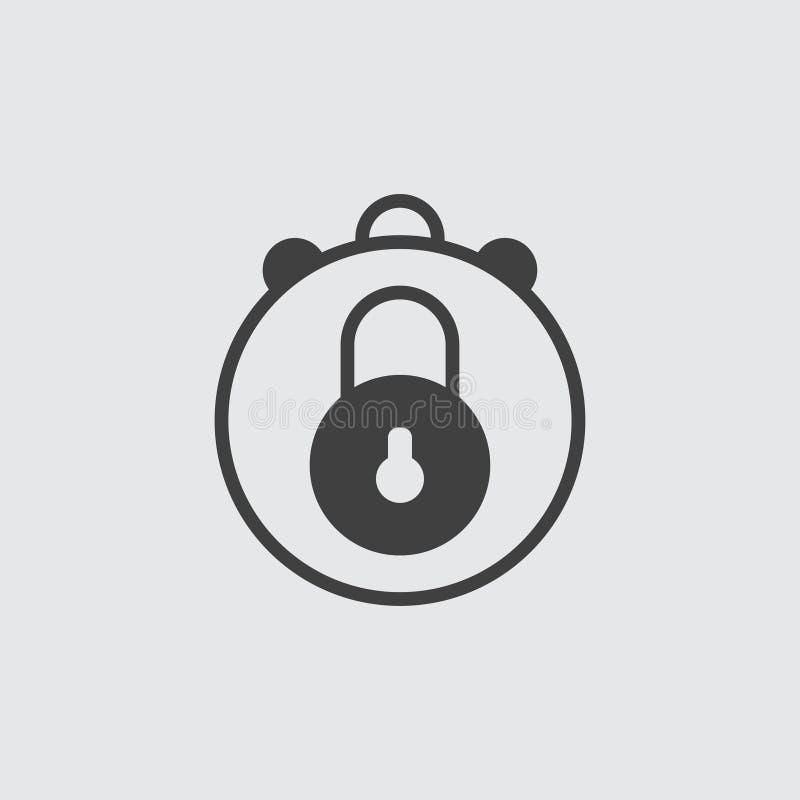 Απεικόνιση εικονιδίων κλειδαριών στοκ εικόνα