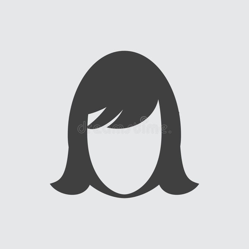 Απεικόνιση εικονιδίων προσώπου γυναικών στοκ φωτογραφίες