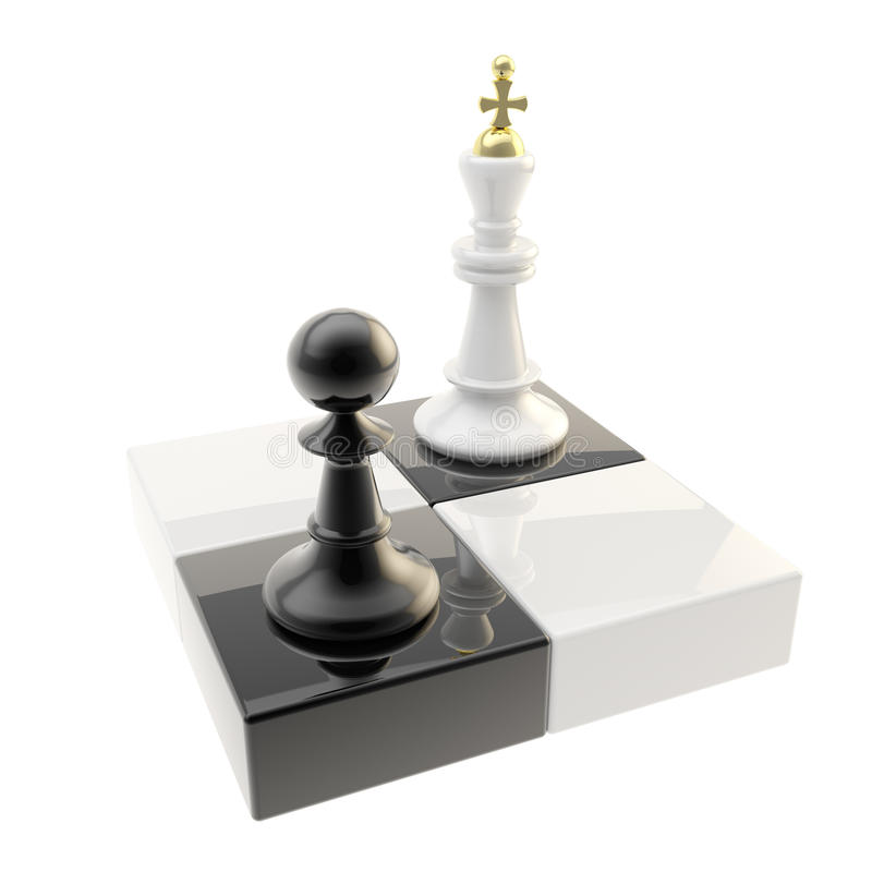 Απεικόνιση εικονιδίων σκακιού του ενέχυρου και του βασιλιά απεικόνιση αποθεμάτων