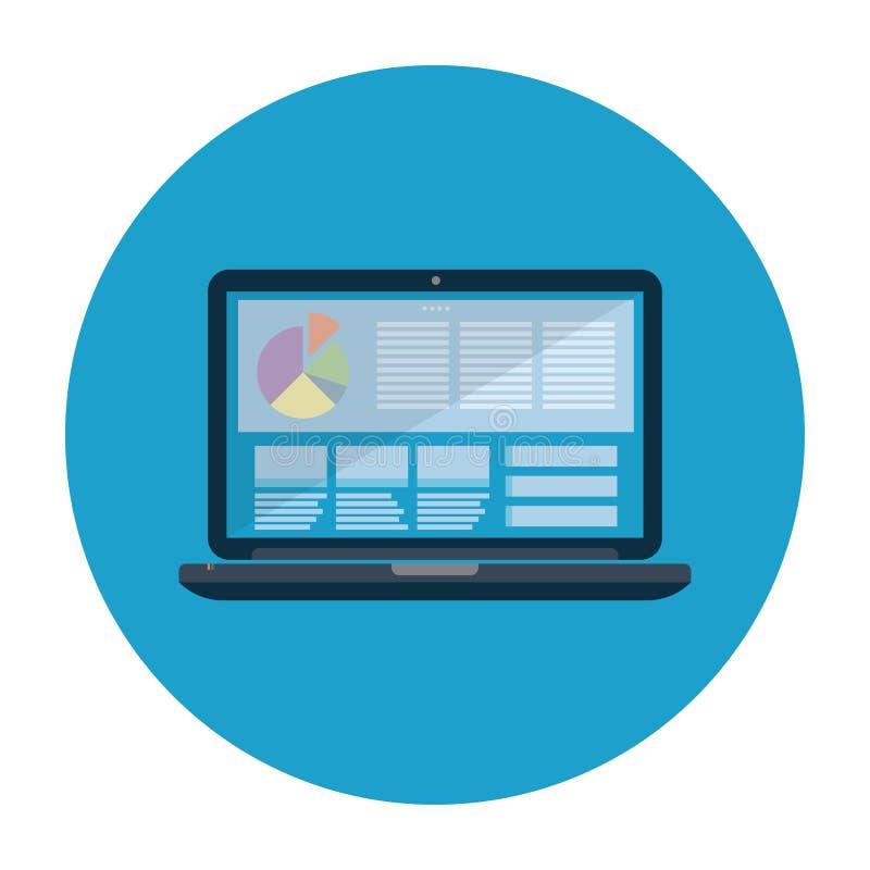 Απεικόνιση εικονιδίων lap-top ελεύθερη απεικόνιση δικαιώματος