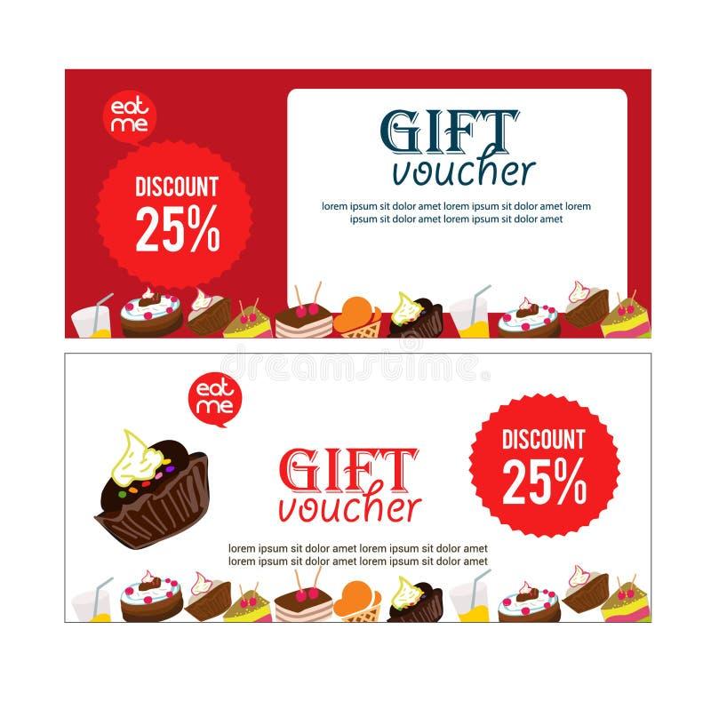 Απεικόνιση εμβλημάτων δώρων αποδείξεων για τον ιστοχώρο εστιατορίων ή τροφίμων, δελτίο, απόδειξη, αφίσσα Επίπεδη αφίσα σχεδίου, δ στοκ φωτογραφίες