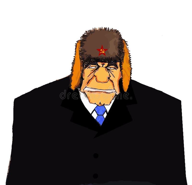 Απεικόνιση ενός ανώτερου ατόμου από την πρώην Σοβιετική Ένωση και με μια ορισμένη ομοιότητα σε Leonid Brezhnev διανυσματική απεικόνιση