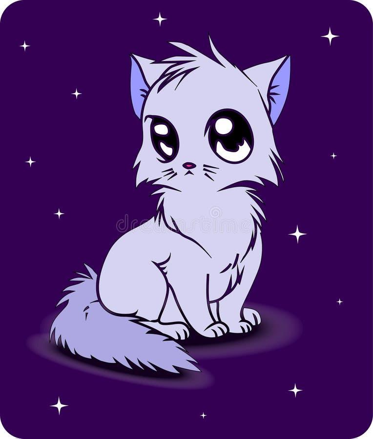 Απεικόνιση ενός αρκετά λίγου γατακιού διανυσματική απεικόνιση