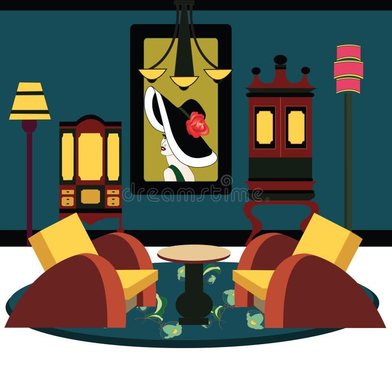 Απεικόνιση ενός δωματίου deco τέχνης απεικόνιση αποθεμάτων