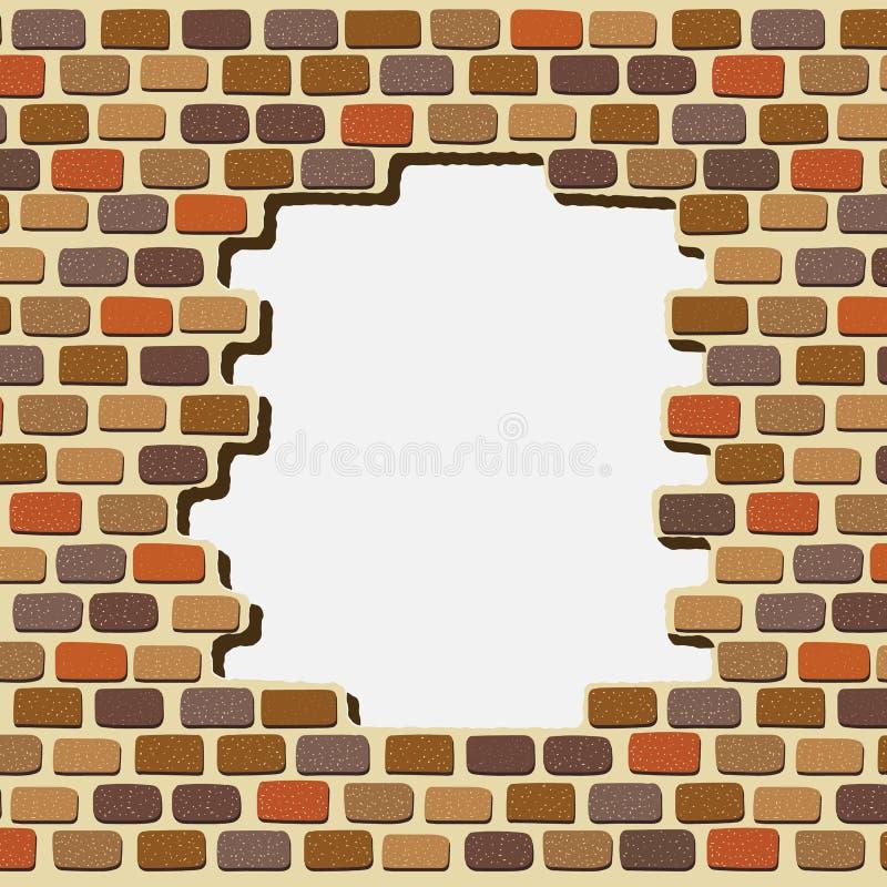 απεικόνιση ενός ζωηρόχρωμου υποβάθρου τοίχων τούβλων διανυσματική απεικόνιση