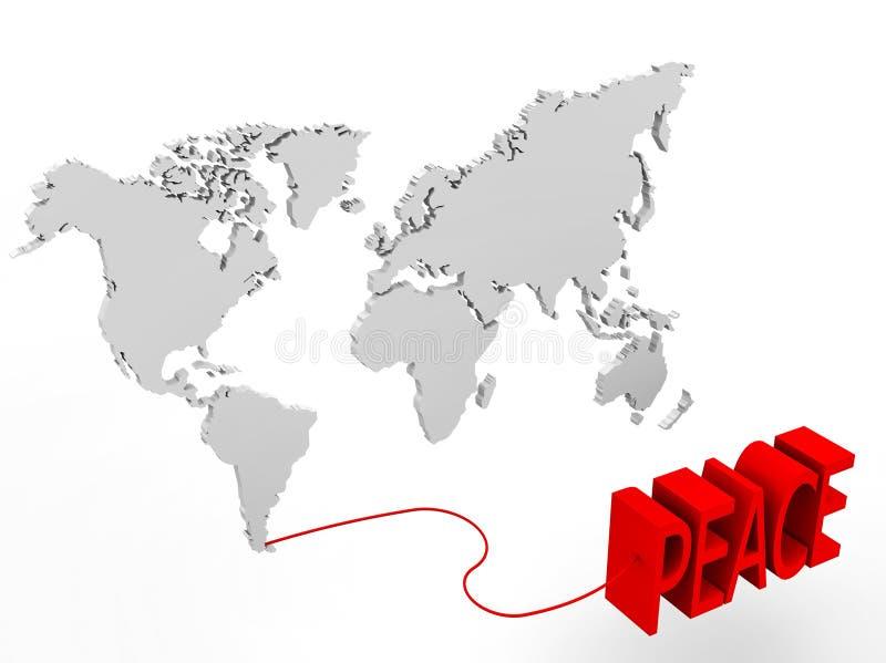 Απεικόνιση ενός παγκόσμιου χάρτη που συνδέεται απεικόνιση αποθεμάτων