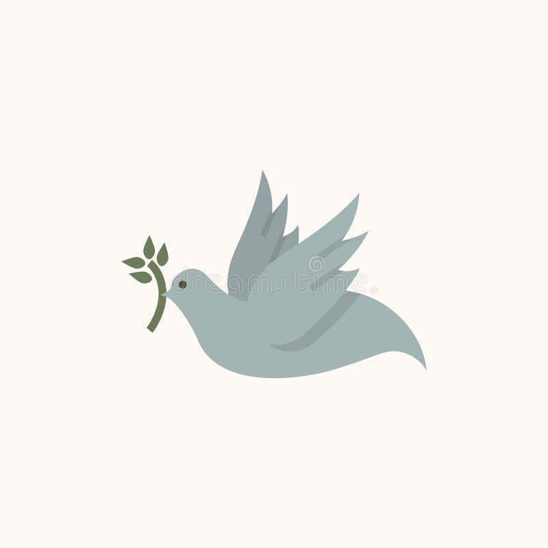 Απεικόνιση ενός περιστεριού της ειρήνης ελεύθερη απεικόνιση δικαιώματος