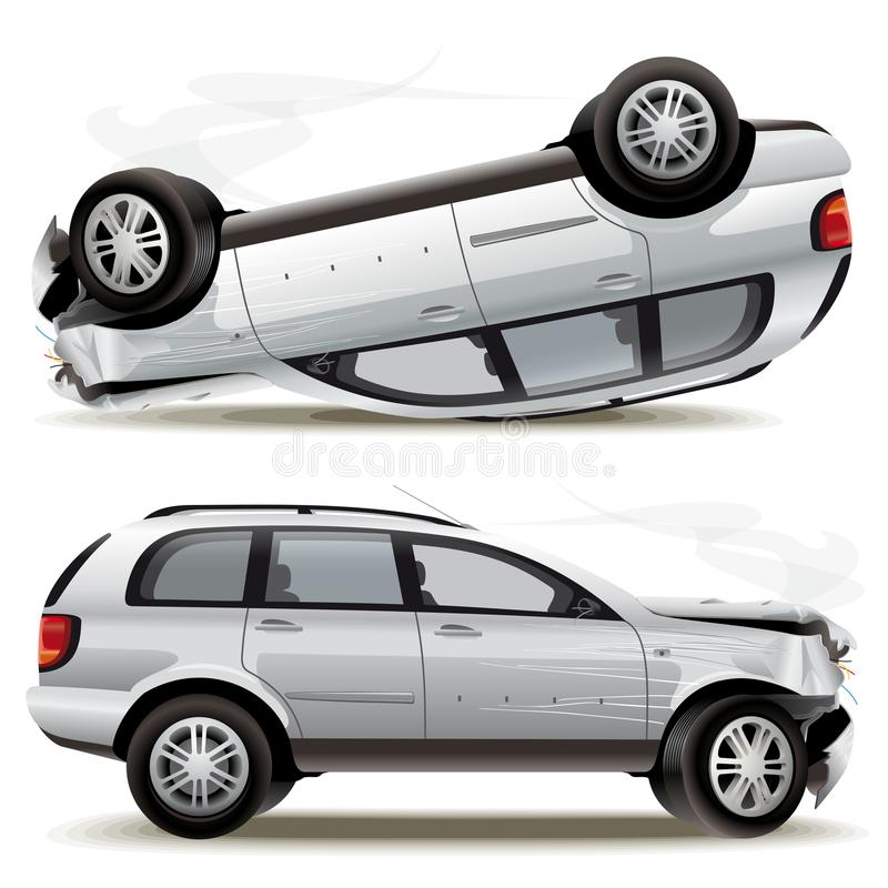 Αυτοκίνητο συντριβής απεικόνιση αποθεμάτων