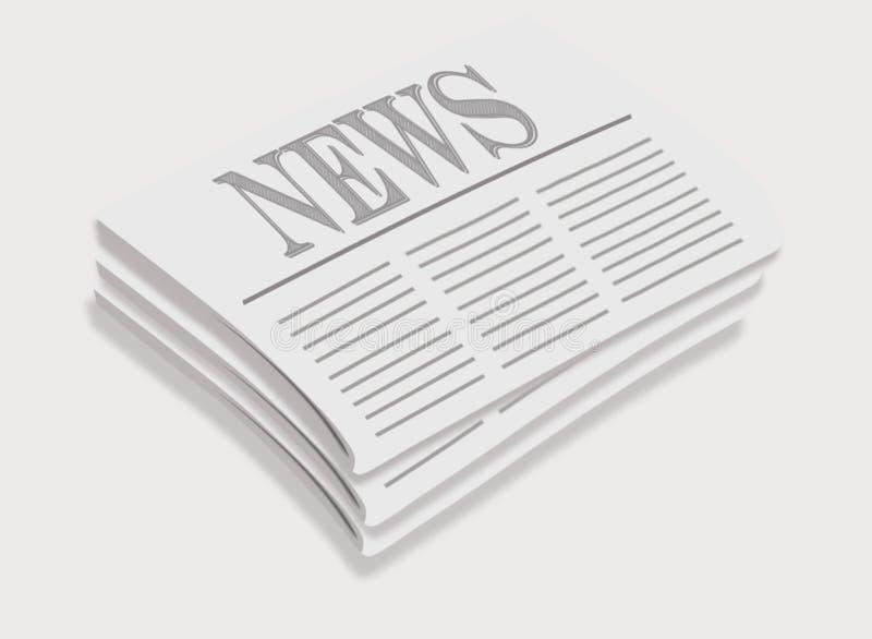Απεικόνιση ενός σωρού των εφημερίδων διανυσματική απεικόνιση