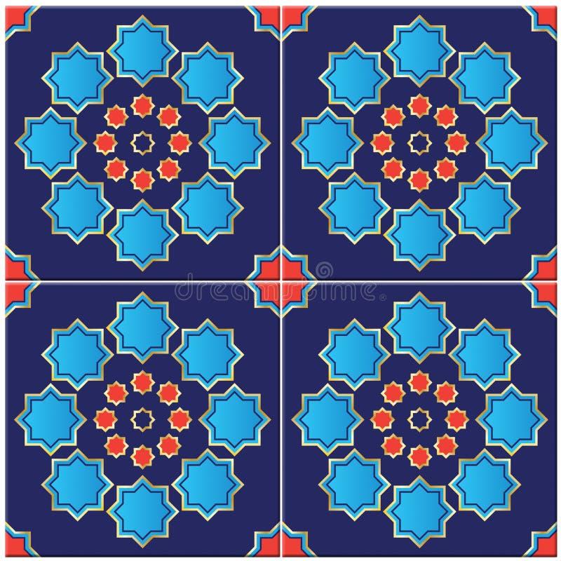 Απεικόνιση ενός τουρκικού κεραμιδιού διανυσματική απεικόνιση
