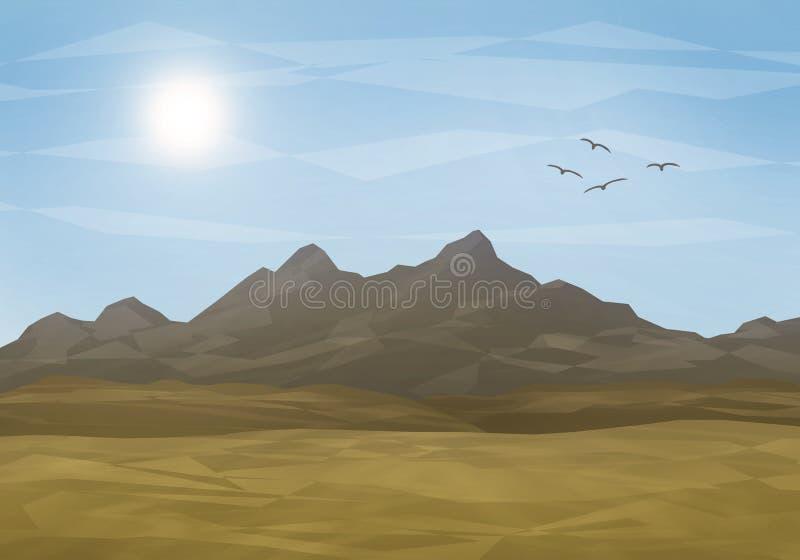 Απεικόνιση ερήμων αλυσίδων βουνών απεικόνιση αποθεμάτων