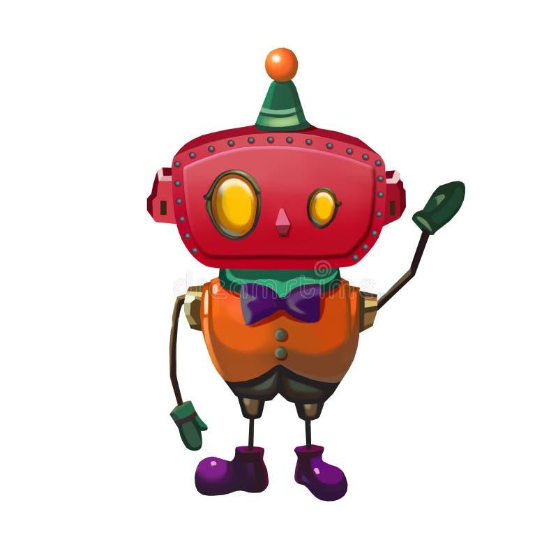 Απεικόνιση: Ευγενές άτομο ρομπότ παιχνιδιών διανυσματική απεικόνιση