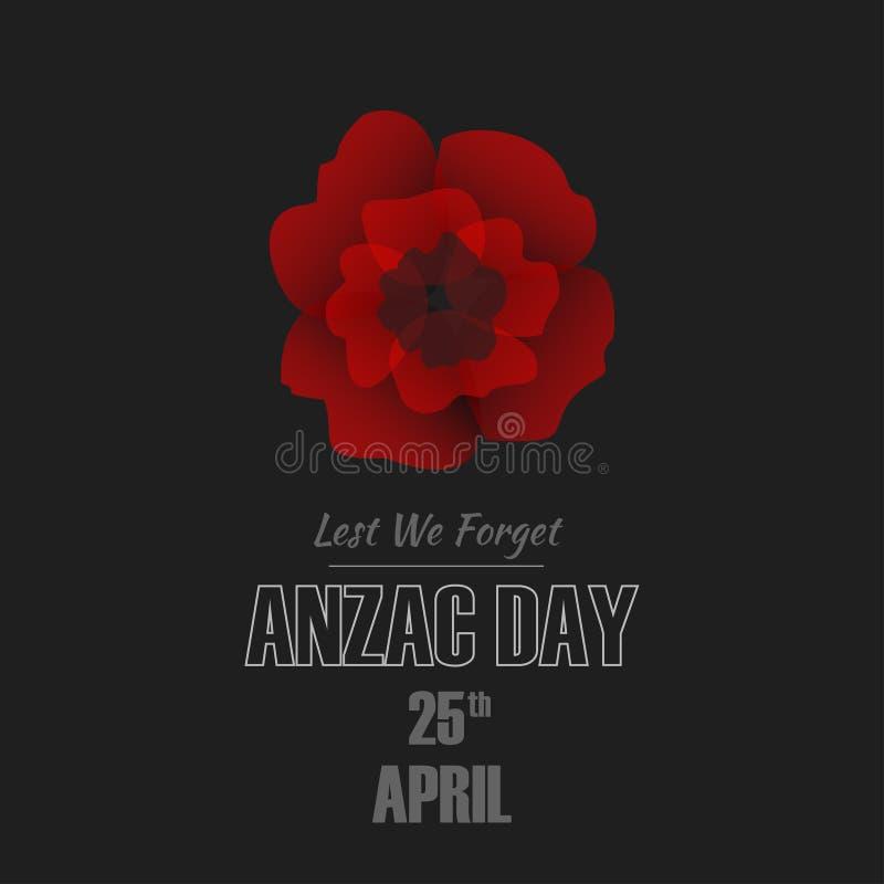 Απεικόνιση ημέρας Anzac ελεύθερη απεικόνιση δικαιώματος
