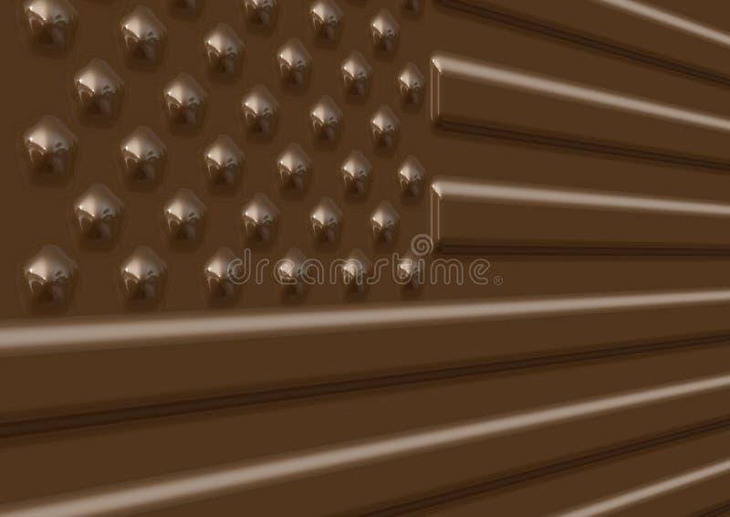 απεικόνιση ΗΠΑ σημαιών σοκολάτας διανυσματική απεικόνιση