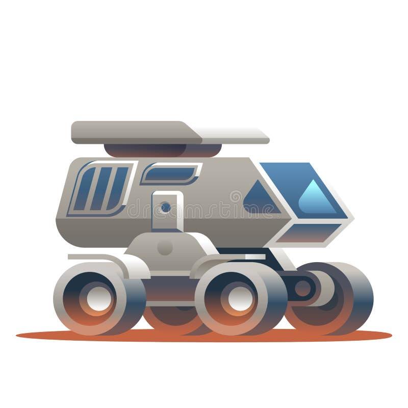 Απεικόνιση η διαστημική Rover που ταξιδεύει γύρω από τον πλανήτη ελεύθερη απεικόνιση δικαιώματος