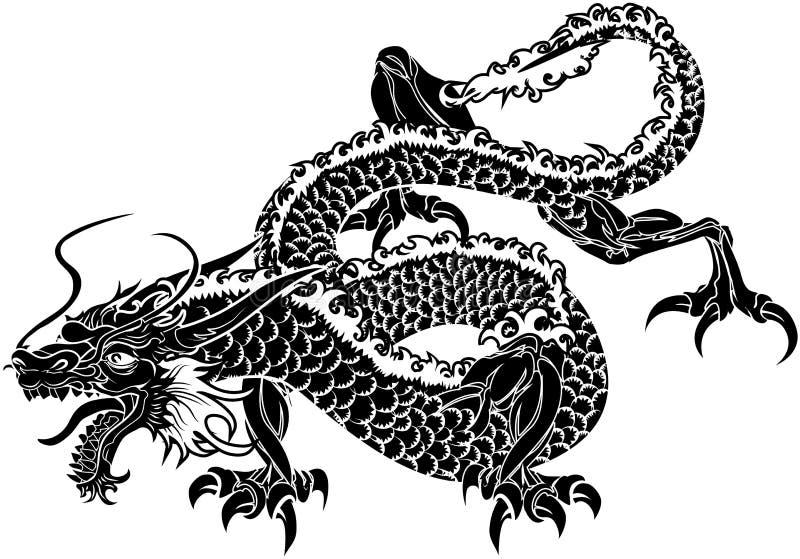 απεικόνιση ιαπωνικά δράκων διανυσματική απεικόνιση