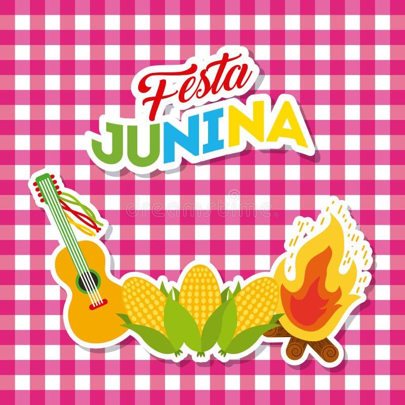 Απεικόνιση Ιουνίου εορτασμού ελεύθερη απεικόνιση δικαιώματος